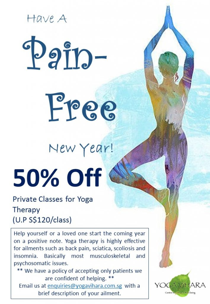 50% off personal classes for yoga therapy