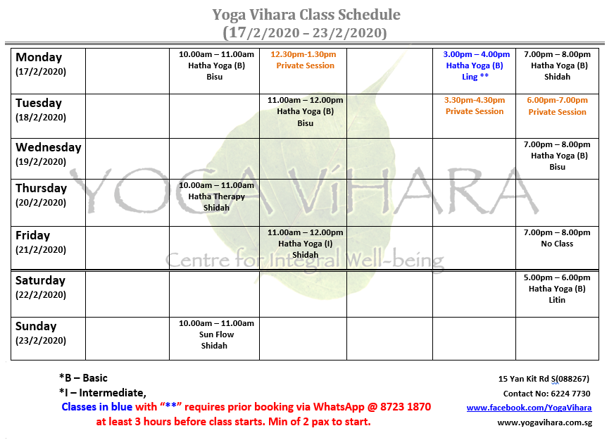 Yoga classes in CBD, Tanjong Pagar