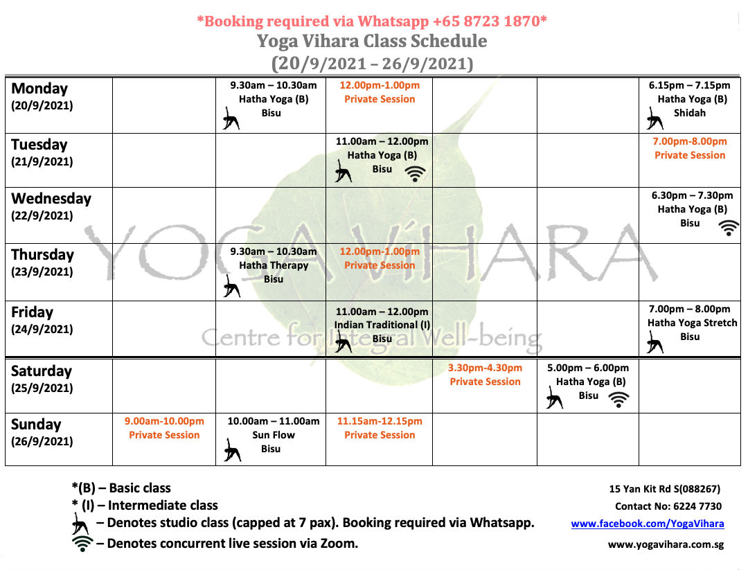 Yoga classes in CBD, Tanjong Pagar